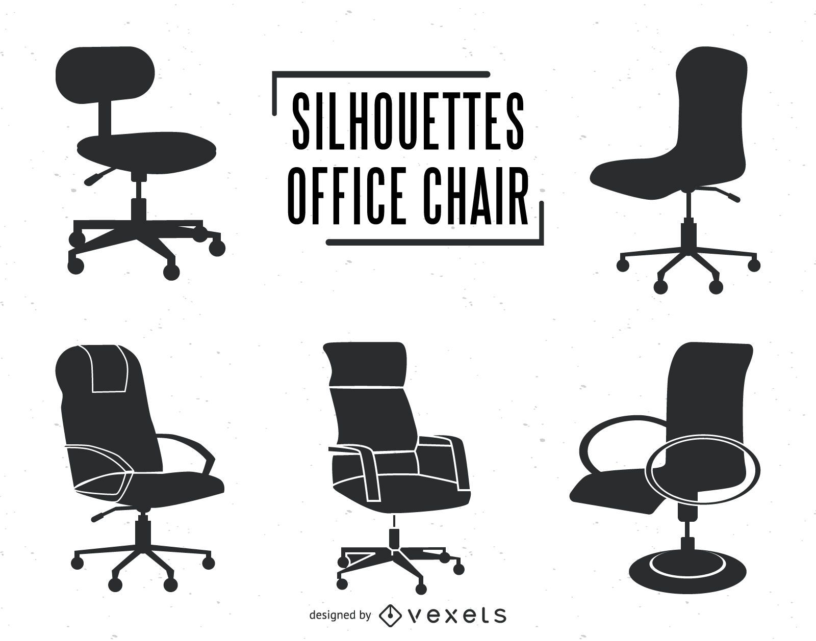 swivel chair em portugues bedroom accent office silhouettes set vector download