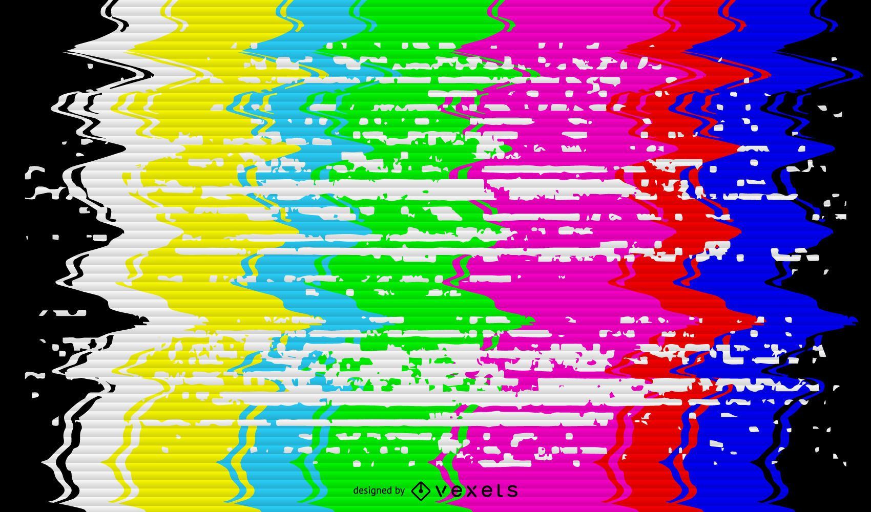 Broken TV signal illustration  Vector download