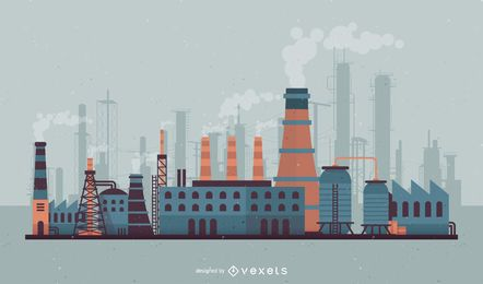 factory vector graphics to