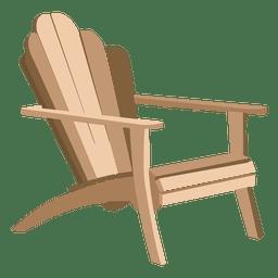 Elegant adirondack chair  Transparent PNG  SVG vector