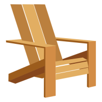 Adirondack chair illustration - Transparent PNG & SVG vector