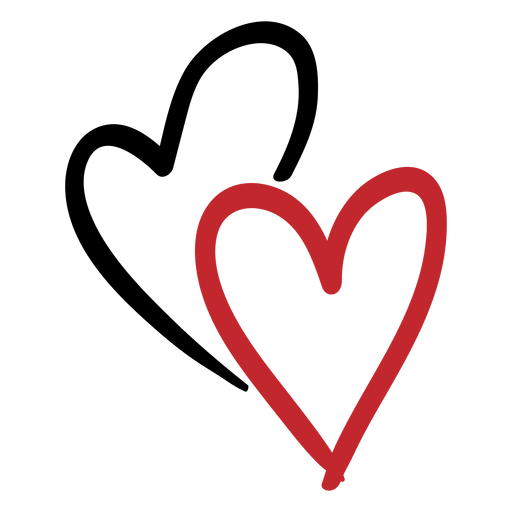 Download Two hearts sticker - Transparent PNG & SVG vector file
