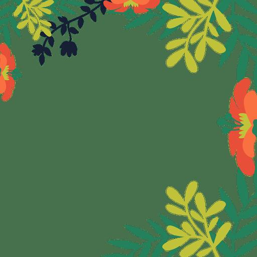 orange flower vines background