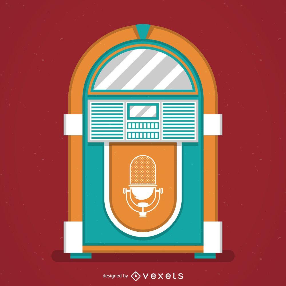 medium resolution of vintage music jukebox illustration