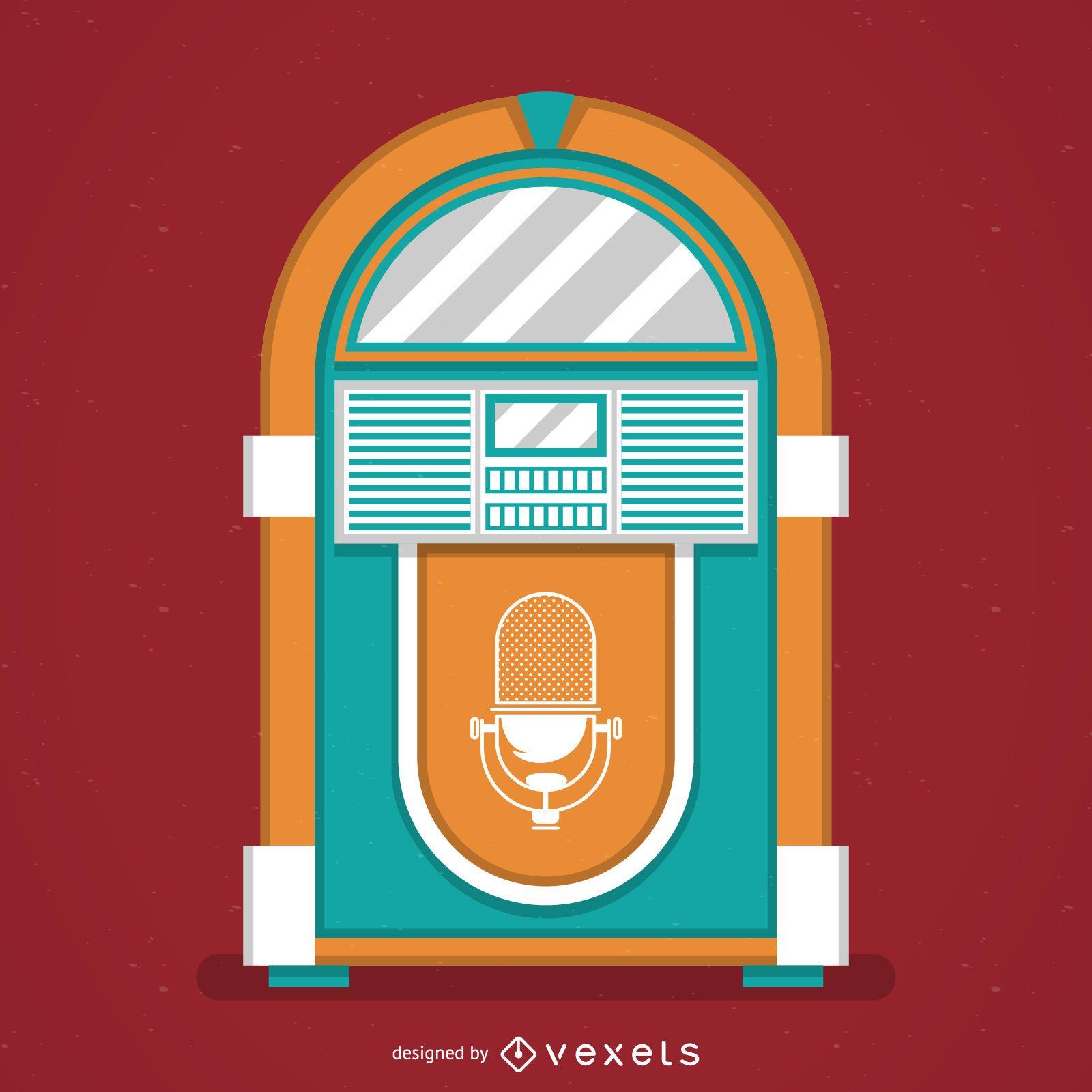 hight resolution of vintage music jukebox illustration
