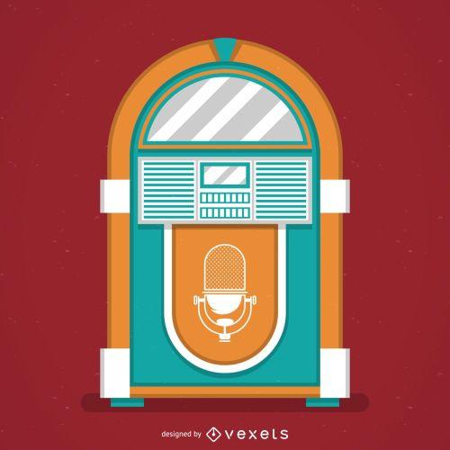 small resolution of vintage music jukebox illustration
