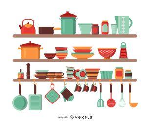 Ilustración De Utensilios De Cocina Descargar Vector