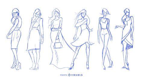 Hand Drawn Fashion Design Elements Vector 04 Free Downloadsitting