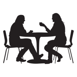 silhouette sitting table dining couple transparent vector svg