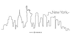 skyline outline york silhouette illustration vexels drawing nyc buildings vectors tattoo vector ny drawings skylines graphics silhouettes famous dessin ai