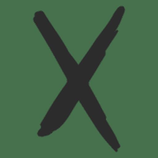 x cross scribble icon