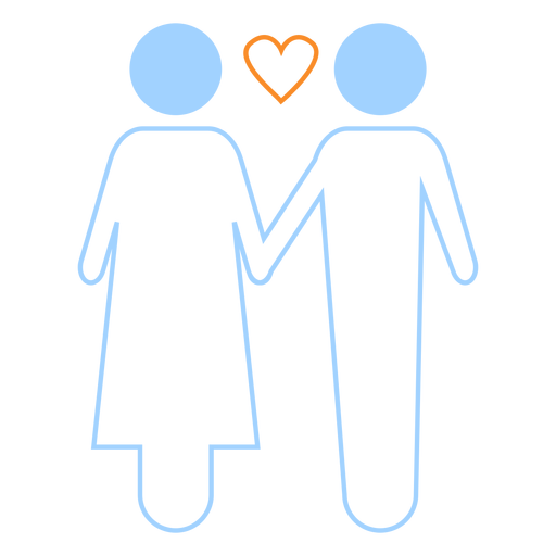 Download Love couple line style icon - Transparent PNG & SVG vector ...