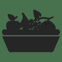 fruit basket icon flat svg transparent vector shirt vexels