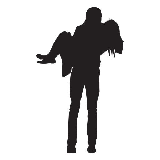 Man carrying woman silhouette  Transparent PNG  SVG vector