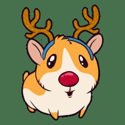 pig guinea cartoon reindeer transparent svg vector try vexels