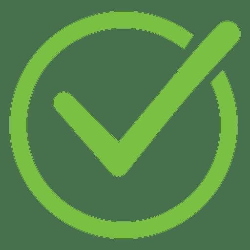 Icono de círculo de marca de verificación - Descargar PNG/SVG transparente