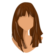 black girl head cartoon - transparent