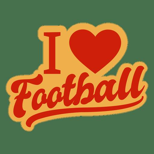 Download I love football badge - Transparent PNG & SVG vector file