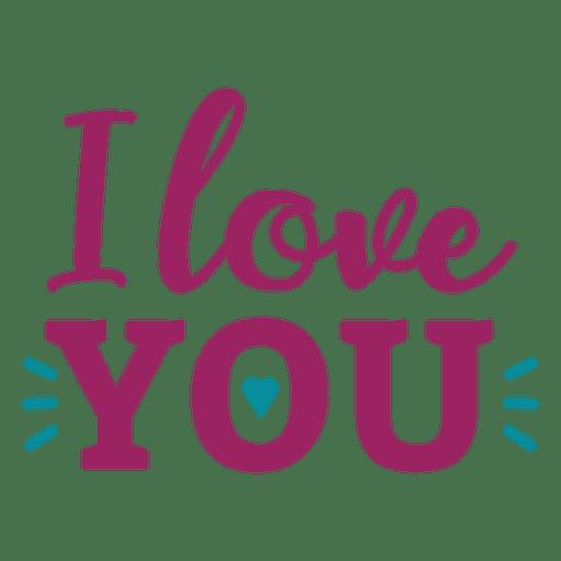 Download I love you lettering - Transparent PNG & SVG vector file