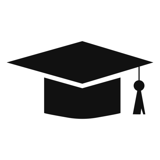 Mortarboard cap flat - Transparent PNG & SVG vector