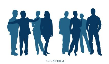 Business People Silhouette Vector Download