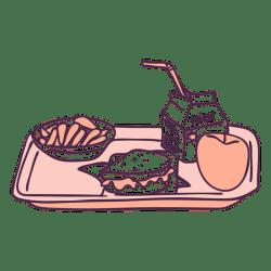 tray food breakfast doodle transparent kawaii avocado svg winking vector edit colors vexels