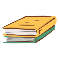 Two books simple flat Transparent PNG & SVG vector file