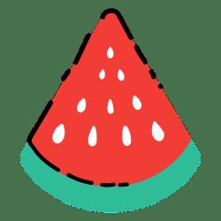 watermelon slice flat svg melancia transparent plana fatia vexels minimalist pattern frutas detalhadas vector edit colors