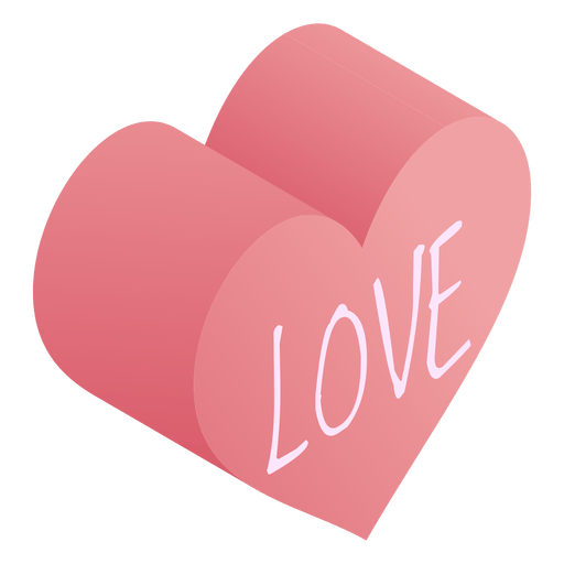 Download Pink heart love isometric - Transparent PNG & SVG vector file