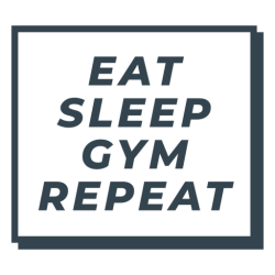sleep eat repeat gym workout phrase transparent svg vector