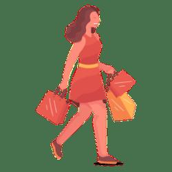Shopping girl cartoon Transparent PNG & SVG vector file