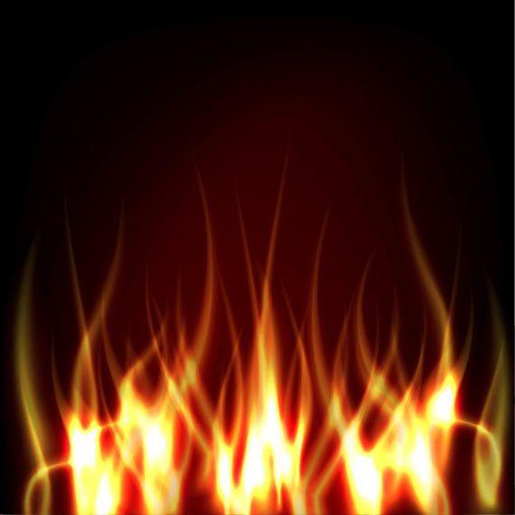 realistic fire on darkish