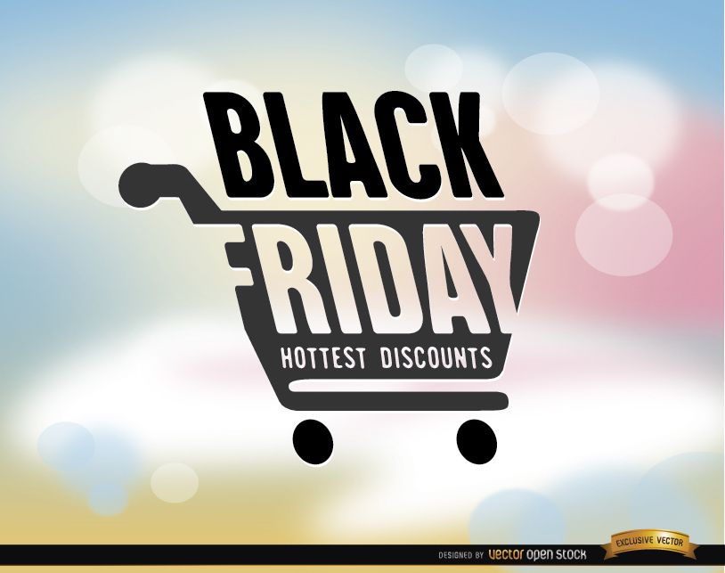 Black Friday Shopping Cart Background Vector Download