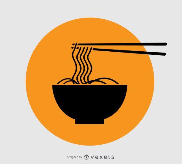 Noodles Logo Design - Vector