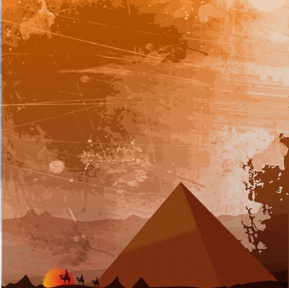 Egyptian Heritage Background Vector Download