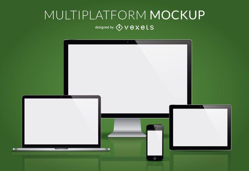Multiplatform Mockup Vector Download