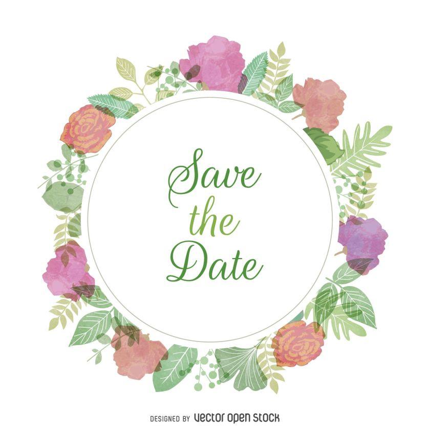Watercolor Wedding Invitation Sign