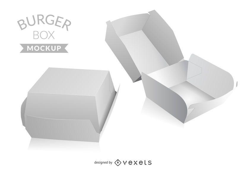 Download Burger box mockup - Vector download