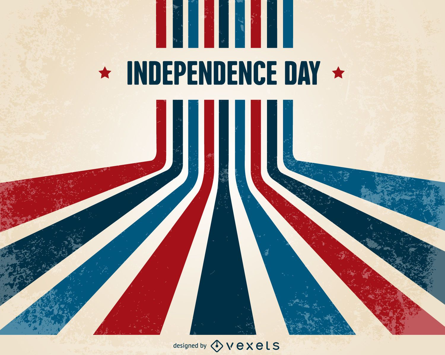 Retro Independence Day Design Vector Download