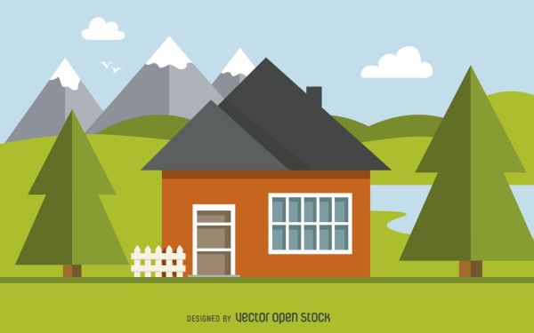 Home Illustration Design - Vector
