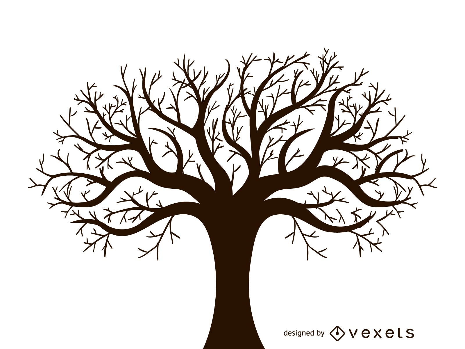 leafless autumn tree design