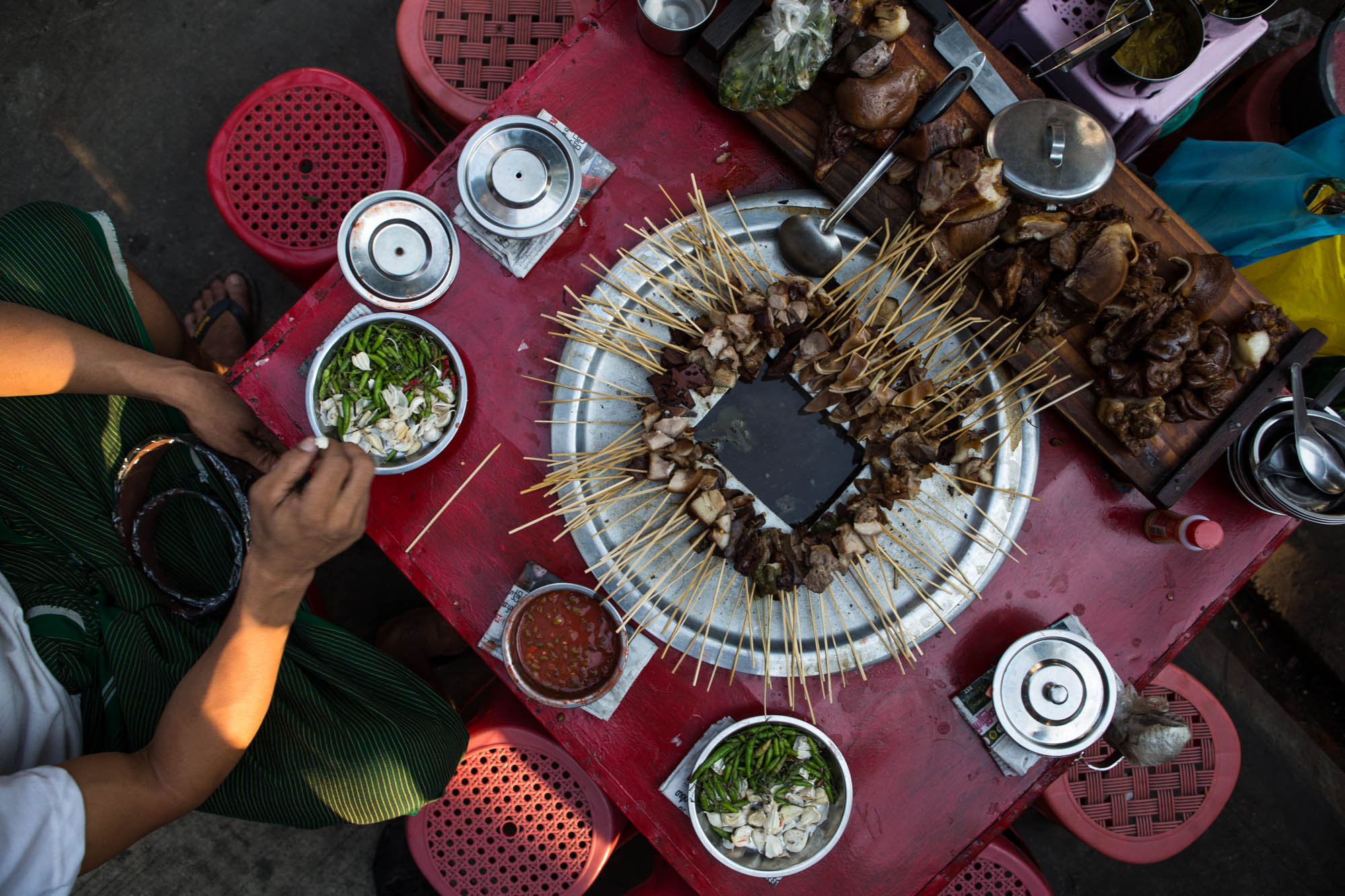Pork-on-Stick-Myanmar-Yangon
