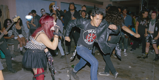 chair mic stand hanging natural 'los punks' documents los angeles' backyard latino punk scene - noisey