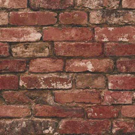 Fine Decor Distinctive Red Rustic Brick Wallpaper