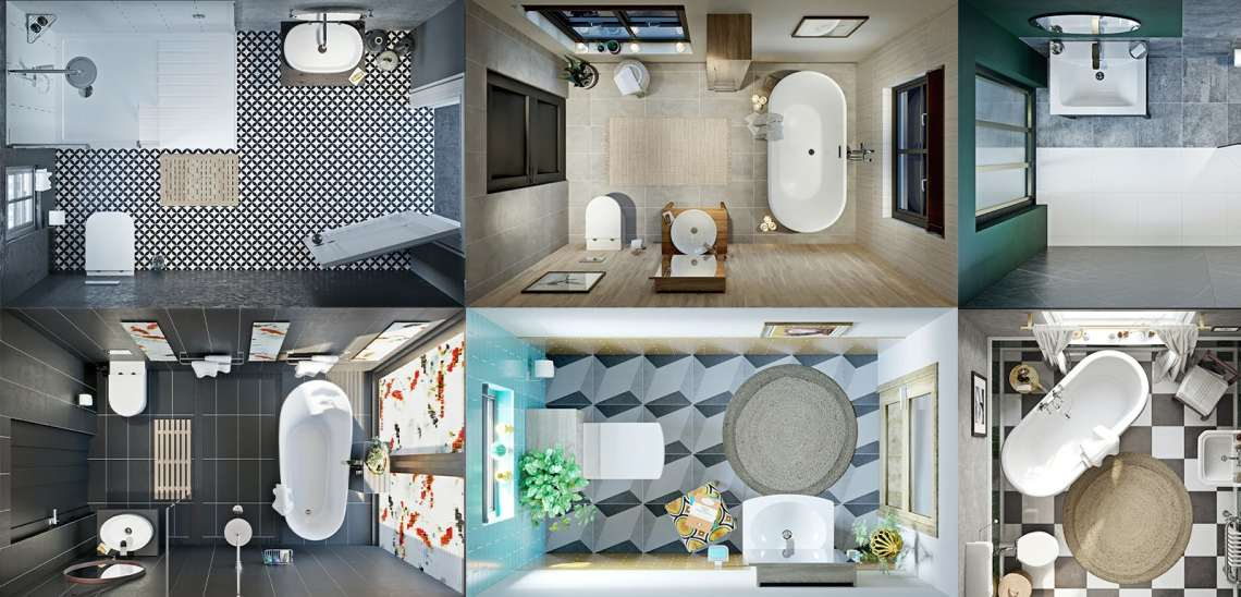 Easy-to-understand bathroom layout & clearance guidelines ...