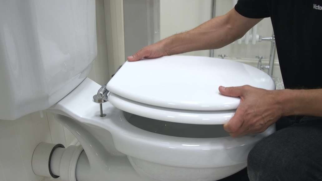 How to fit a toilet seat | VictoriaPlum.com