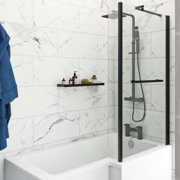 polar white marble effect matt wall and floor tile 300mm x 600mm