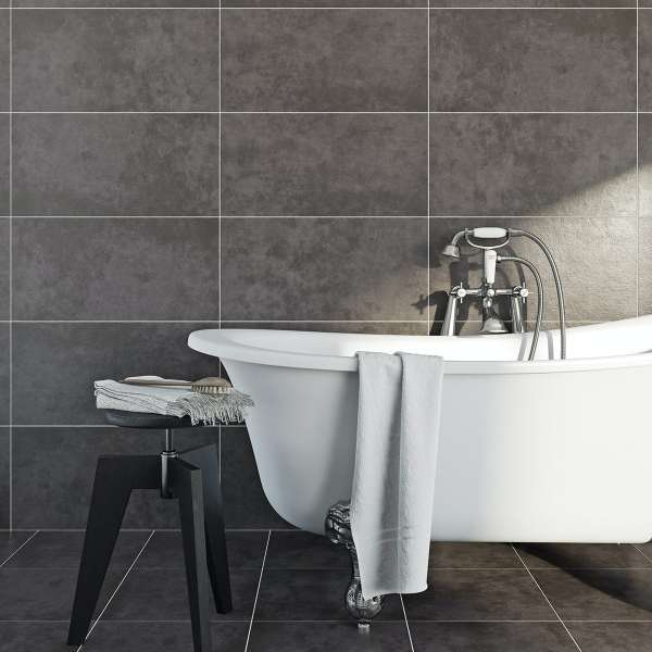 british ceramic tile canvas charcoal grey matt tile 298mm x 598mm