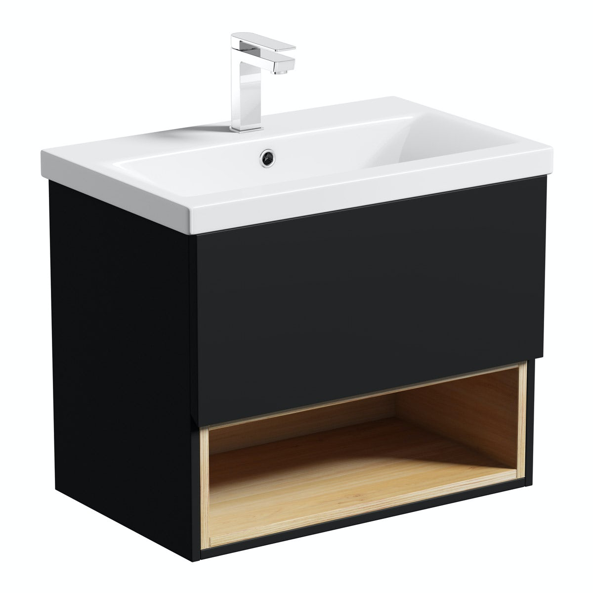 Mode Tate Anthracite Oak 600mm Wall Hung Vanity Unit With