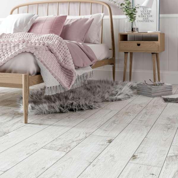 hardwick white wood effect matt wall and floor tile 150mm x 900mm